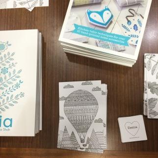 Zeena Shah's colouring book Scandia