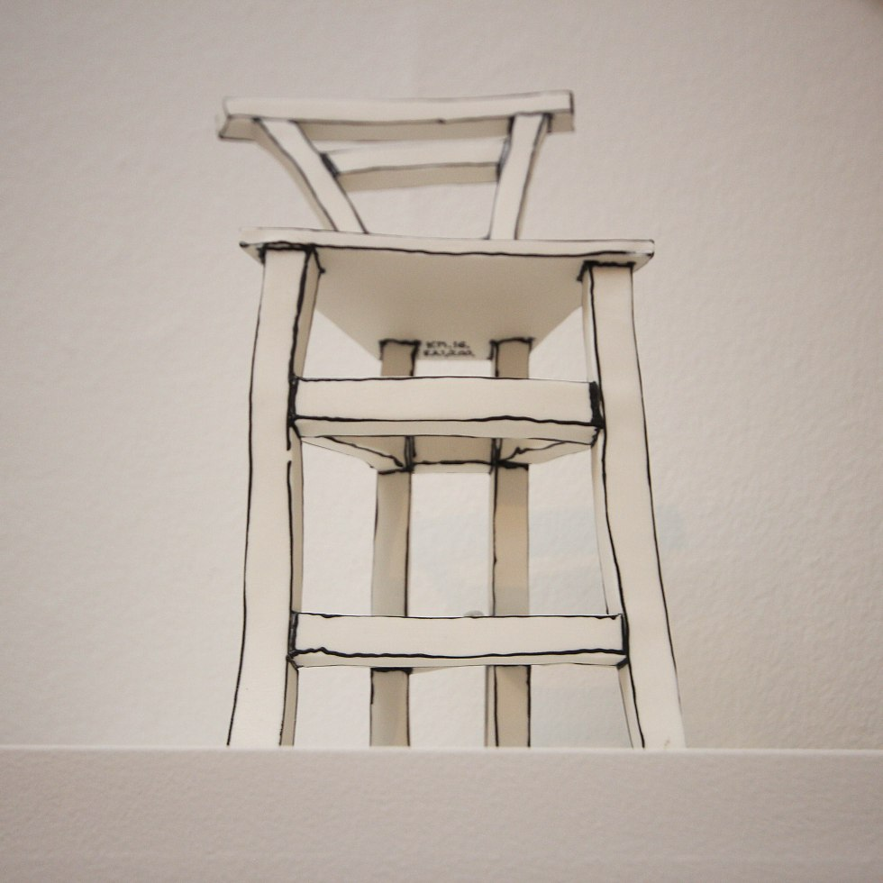 1055-Chair Maquette: Katharine Morling porcelain