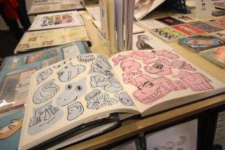 Birmingham City University Sketch book table.