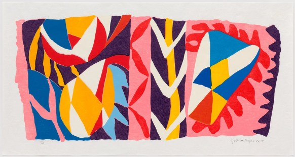 797-Achiote:Gillian Ayres Woodcut on Japanese Paper
