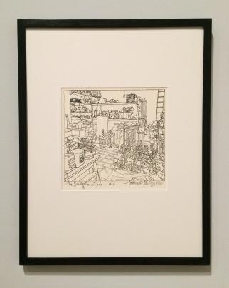 the-sculptors-studio-lithograph