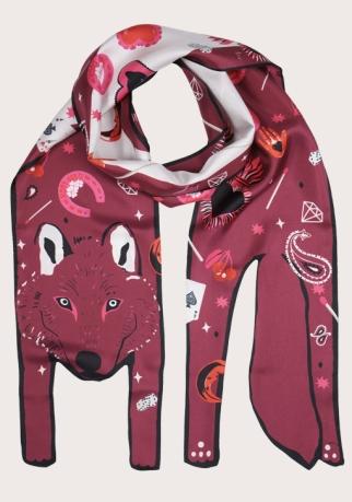 Wolf+Sacred+Heart+2-+designer+silk+scarf