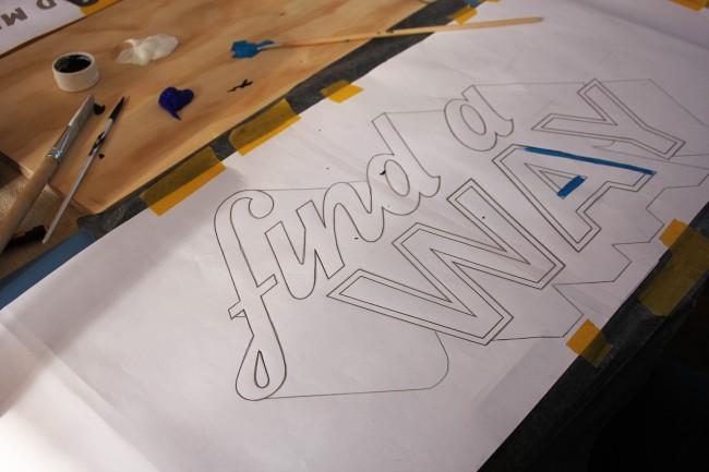 find a way stencil